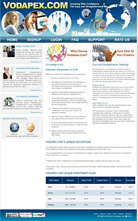 HYIP vodapex screenshot home page