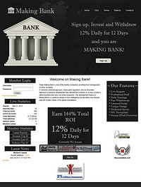 HYIP making-bank screenshot home page