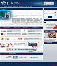 HYIP financa screenshot home page