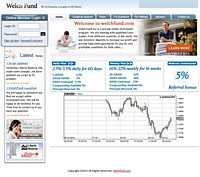 HYIP welchfund screenshot home page