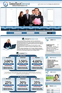 HYIP intellectinvest screenshot home page