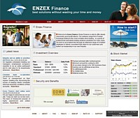 HYIP enzexfinance screenshot home page