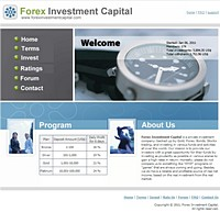HYIP forexinvestmentcapital screenshot home page