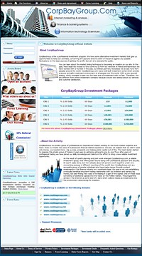HYIP corpbaygroup screenshot home page