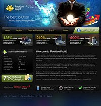 HYIP positiveprofit screenshot home page