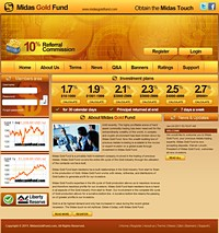 HYIP midasgoldfund screenshot home page