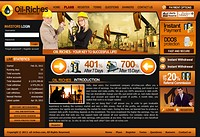 HYIP oil-riches screenshot home page