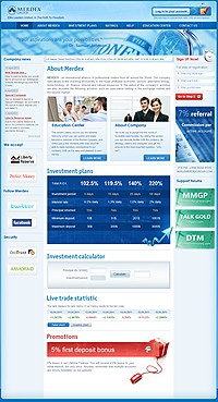 HYIP merdexgroup screenshot home page