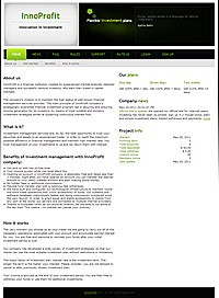 HYIP innoprofit screenshot home page