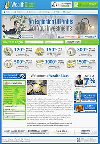 HYIP wealthblast screenshot home page