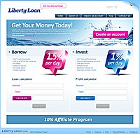 HYIP libertyloan screenshot home page