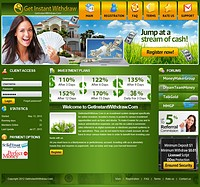 HYIP getinstantwithdraw screenshot home page