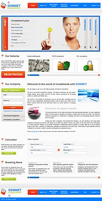 HYIP sommetcorporation screenshot home page