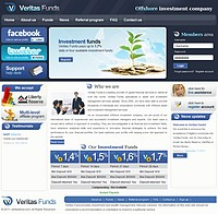 HYIP veritasfunds screenshot home page
