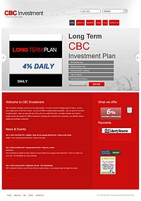 HYIP cbcinvestment screenshot home page