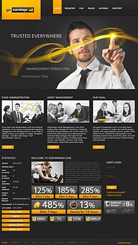 HYIP goearnings screenshot home page