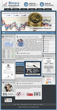 HYIP binaryfinancegroup screenshot home page