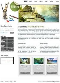 HYIP nature-forex screenshot home page