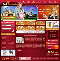 HYIP web-corporate screenshot home page