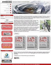 HYIP amsreturns screenshot home page