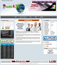 HYIP profit4fund screenshot home page