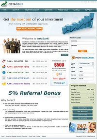 HYIP instabank screenshot home page