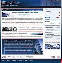 HYIP Royalty7 screenshot home page