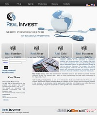HYIP real--invest screenshot home page