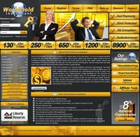 HYIP worldgoldinvestment screenshot home page