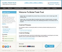 HYIP globaltradetrust screenshot home page
