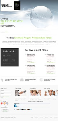 HYIP worldmarketsfunds screenshot home page