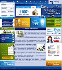 HYIP strongdollars screenshot home page