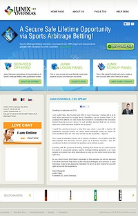 HYIP junixoverseas screenshot home page