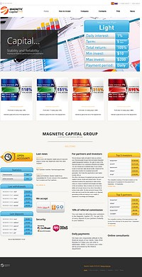 HYIP magnetic-capital screenshot home page