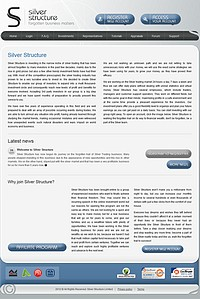 HYIP silverstructure screenshot home page