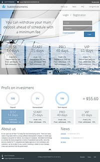 HYIP forex-finance screenshot home page