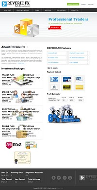 HYIP reveriefx screenshot home page