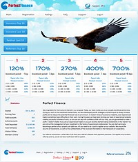 HYIP perfect-finance screenshot home page
