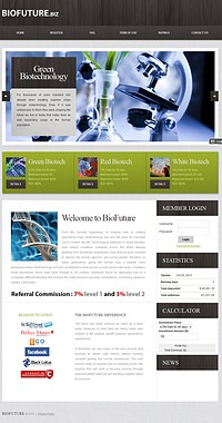 HYIP biofuture screenshot home page