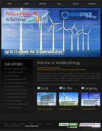 HYIP windstockenergy screenshot home page