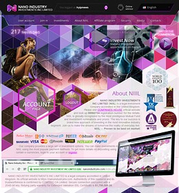 HYIP nanoindustryinv screenshot home page