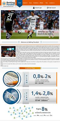 HYIP bettingparadize screenshot home page