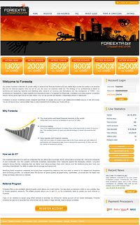HYIP foreexta screenshot home page