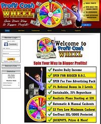 HYIP profitcashwheel screenshot home page