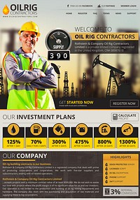 HYIP oilrigcontractors screenshot home page