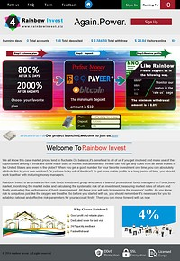 HYIP rainbowinvest screenshot home page