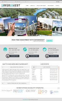 HYIP saferinvest screenshot home page