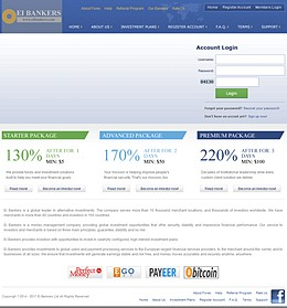 HYIP eibankers screenshot home page