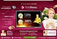 HYIP pinkmoney screenshot home page
