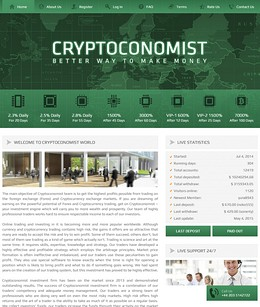 HYIP cryptoconomist screenshot home page